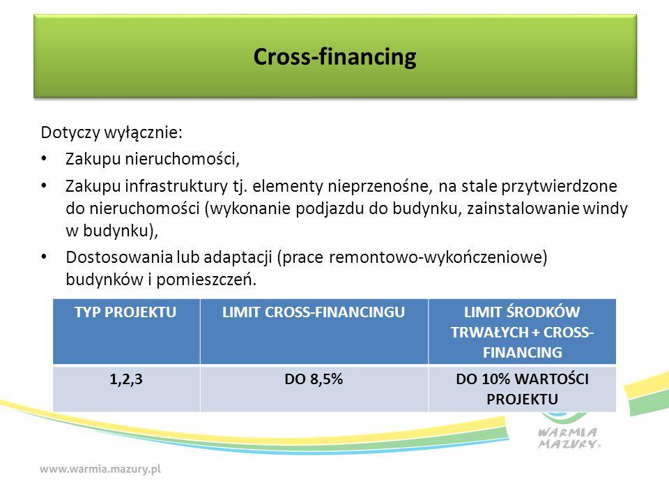 Dotyczy wyłącznie: Zakupu nieruchomości, Zakupu infrastruktury tj. elementy nieprzenośne, na stale przytwierdzone do nieruchomości (wykonanie podjazdu