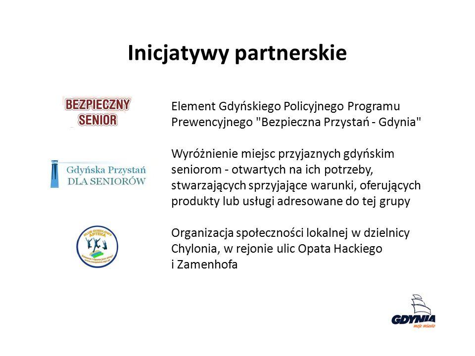 Inicjatywy partnerskie Element Gdyńskiego Policyjnego Programu Prewencyjnego