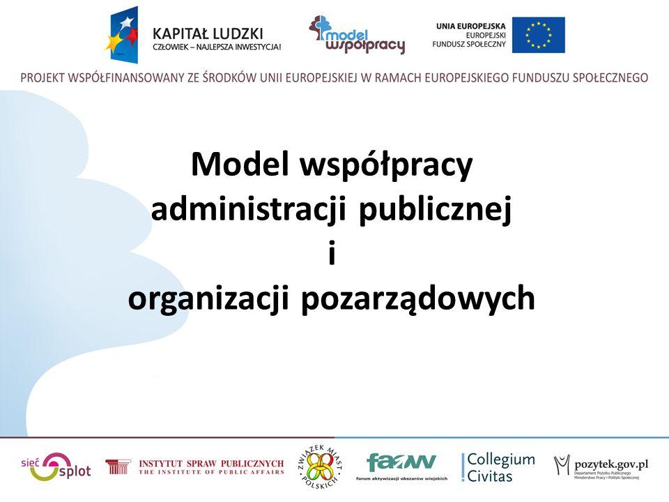 Model współpracy administracji publicznej i organizacji pozarządowych