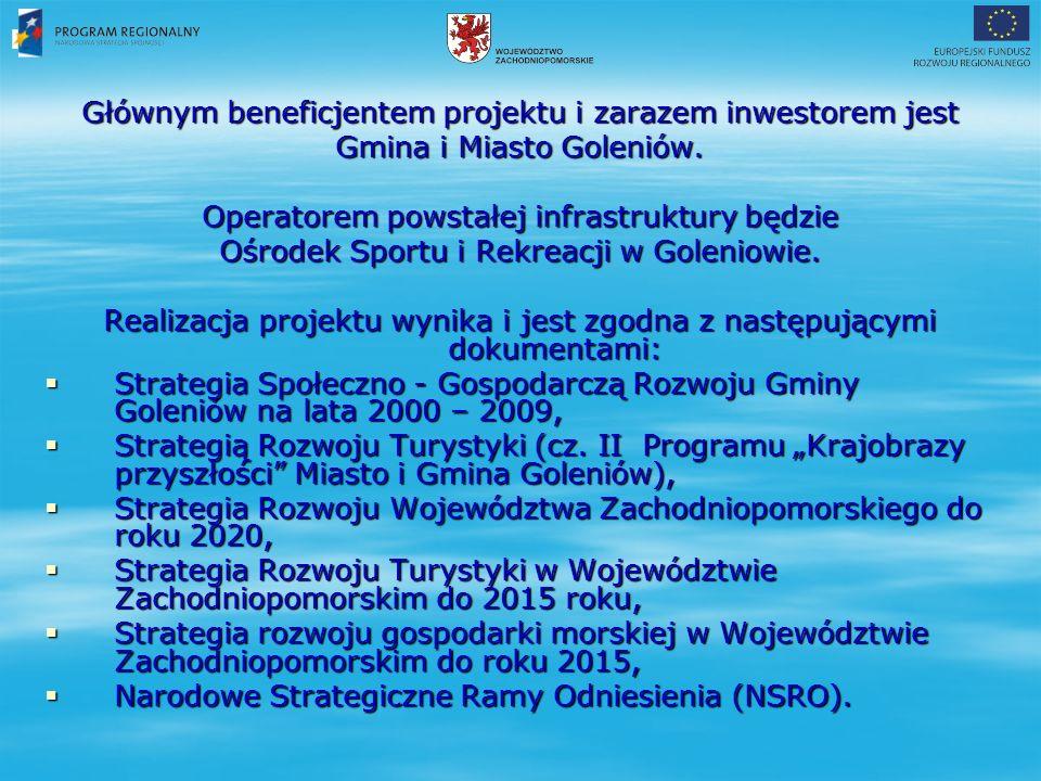 Głównym beneficjentem projektu i zarazem inwestorem jest Gmina i Miasto Goleniów.