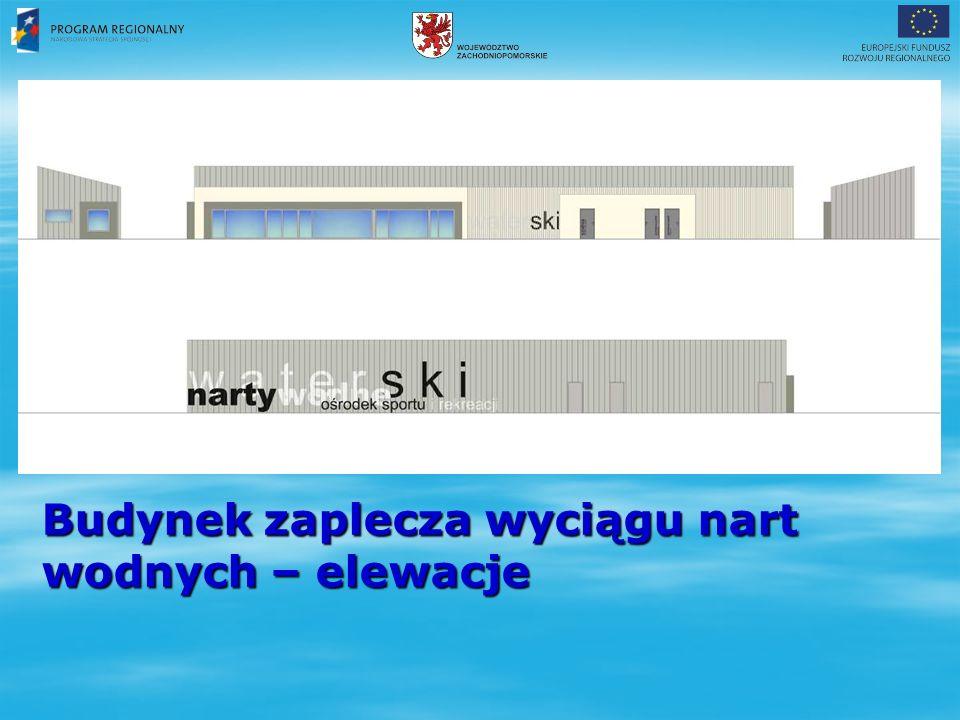 Budynek zaplecza wyciągu nart wodnych – elewacje