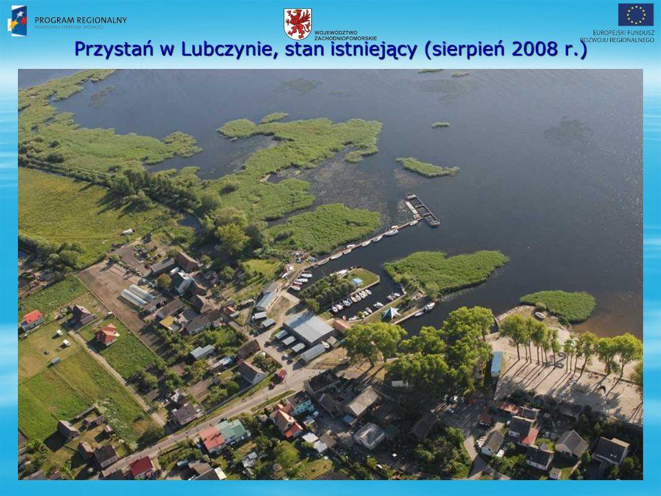 Przystań w Lubczynie, stan istniejący (sierpień 2008 r.)