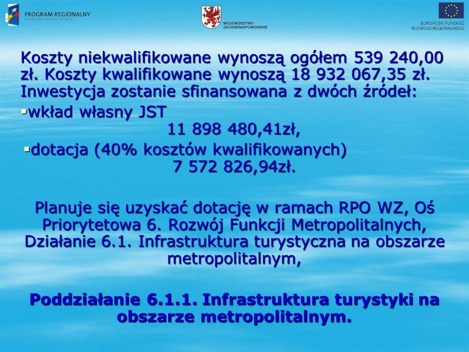 Koszty niekwalifikowane wynoszą ogółem 539 240,00 zł.