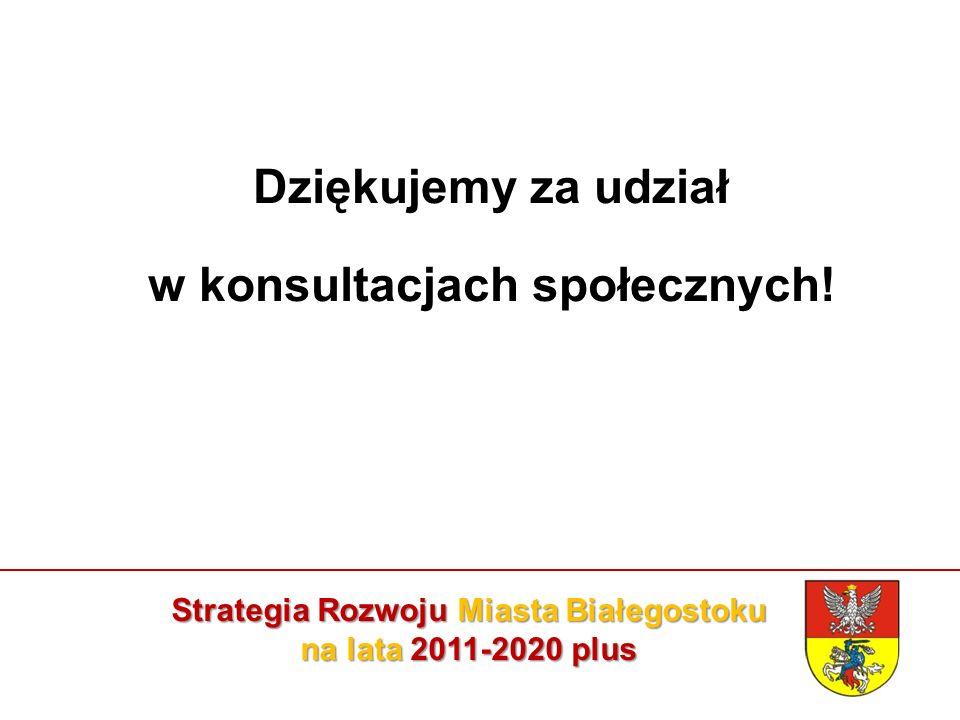 Strategia Rozwoju Miasta Białegostoku na lata 2011-2020 plus Dziękujemy za udział w konsultacjach społecznych!