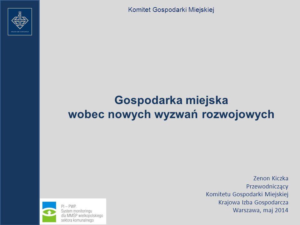 KRAJOWA IZBA GOSPODARCZA KOMITET GOSPODARKI Miejskiej 1200 przedsiębiorstw gospodarki miejskiej Związek Województw Rzeczpospolitej Polskiej (16 województw) Samorząd terytorialny AKADEMIA GOSPODARKI MIEJSKIEJ KRAJOWA POLITYKA MIEJSKA GOSPODARKA MIEJSKA SYSTEM WZMACNIANIA KADR DLA GOSPODARKI MIEJSKIEJ KAPITUŁA NAGRODY MIASTO NOWOCZESNEJ GOSPODARKI SIEĆ WSPARCIA KOMITETU GOSPODARKI MIEJSKIEJ URZĘDY I INSTYTUCJE PAŃSTWOWE SEKTOR BADAWCZY SEKTOR NAUKI SYSTEM INFORMACYJNY MEDIA FN EPL FR 1150 PRZEDSIĘBIORSTW VKU DE 1350 PRZEDSIĘBIORSTW WSPÓŁPRACA MIĘDZYNARODOWA CEEP EUROPE 160 000 PRZEDSIĘBIORSTW PARTNERZY KOMITET GOSPODARKI MIEJSKIEJ 1200 przedsiębiorstw gospodarki miejskiej 16 Regionów Samorząd terytorialny Instytucje Otoczenia Biznesu Schemat do strategii działania Komitetu Gospodarki Miejskiej na lata 2014 -2020.