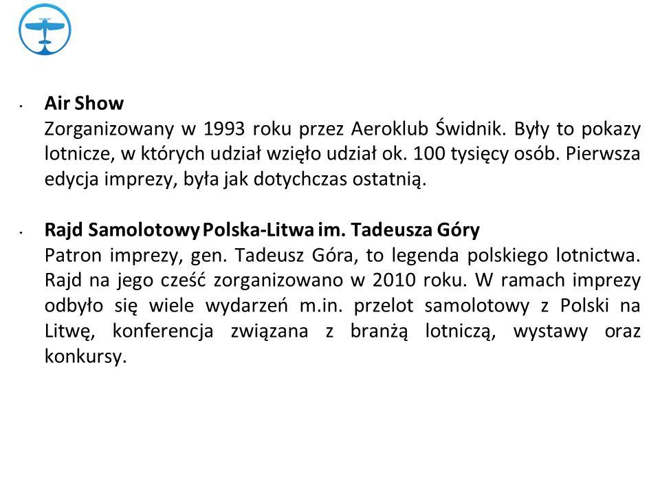 Air Show Zorganizowany w 1993 roku przez Aeroklub Świdnik.