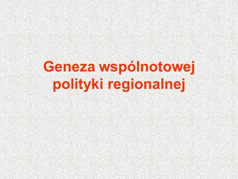 Geneza wspólnotowej polityki regionalnej
