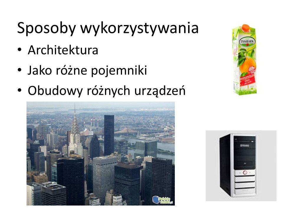 Sposoby wykorzystywania Architektura Jako różne pojemniki Obudowy różnych urządzeń