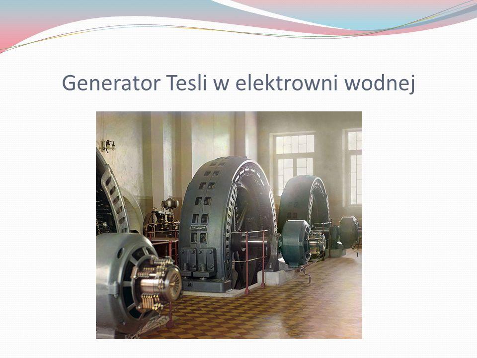 Generator Tesli w elektrowni wodnej