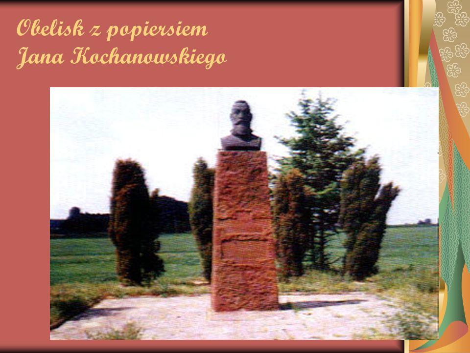 Obelisk z popiersiem Jana Kochanowskiego