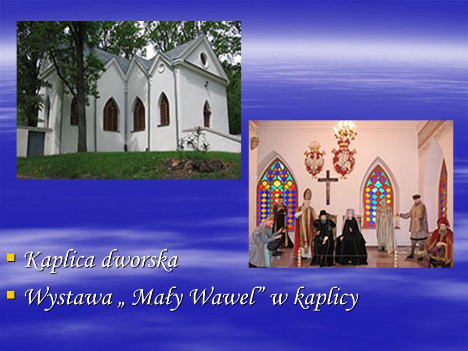 """ Kaplica dworska  Wystawa """" Mały Wawel"""" w kaplicy"""
