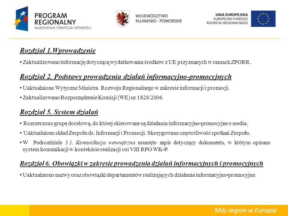 Departament Polityki Regionalnej Mój region w Europie Rozdział 8.