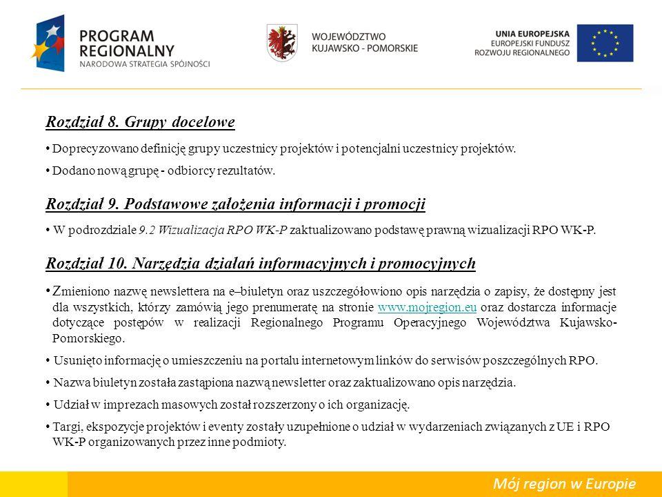 Departament Polityki Regionalnej Mój region w Europie Rozdział 11.