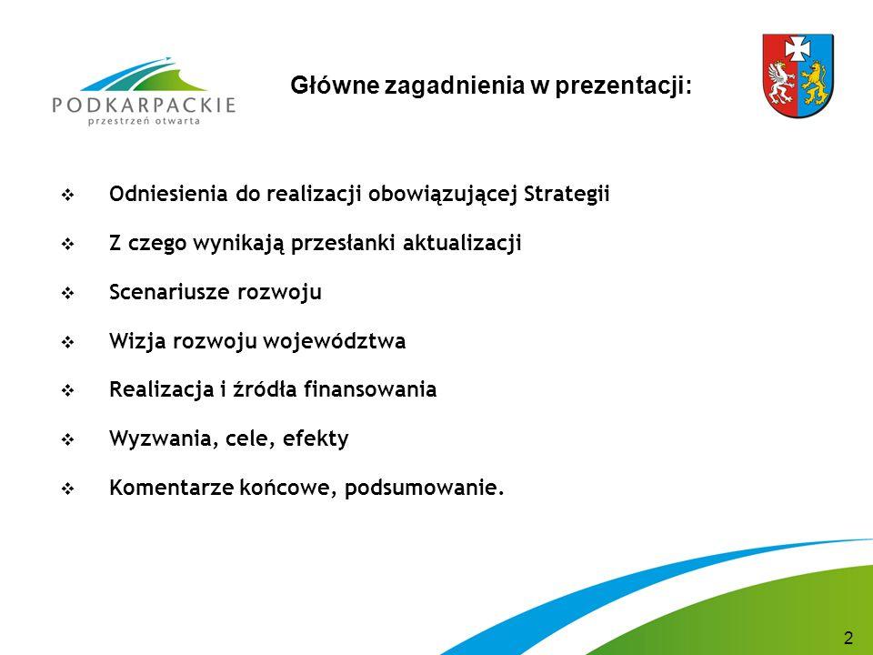 Strategia rozwoju województwa podkarpackiego na lata 2007-2020  Została uchwalona przez Sejmik Województwa Podkarpackiego w październiku 2006 r.