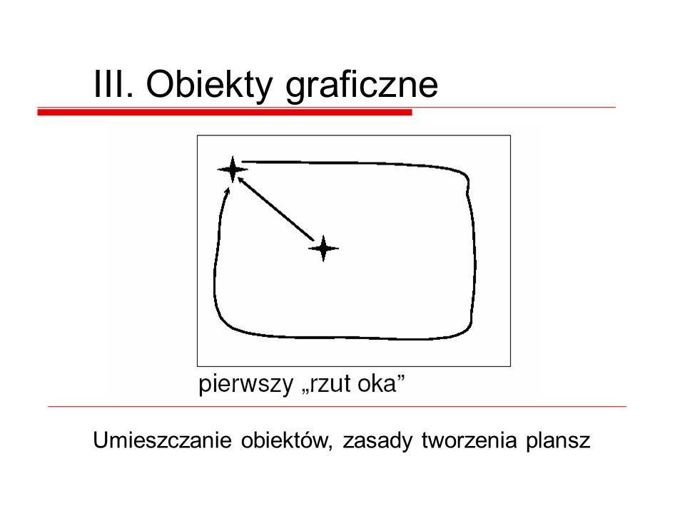 III. Obiekty graficzne Umieszczanie obiektów