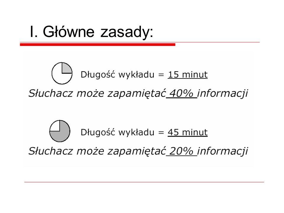 Przykład Zbliżony efekt uzyskać można pokazując od razu całą zawartość slajdu i eksponując wybrane fragmenty tekstu.