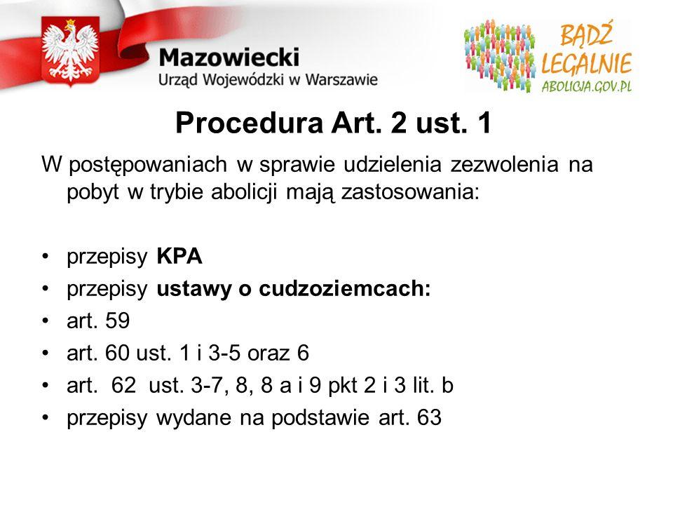 Procedura - ogólny formularz dot.