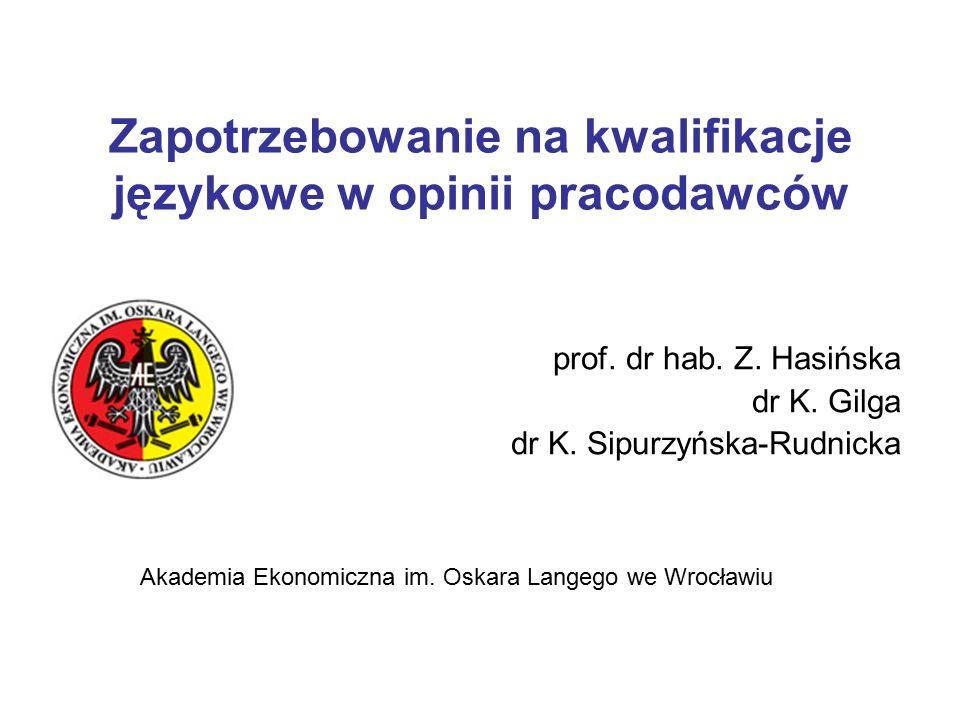 Zapotrzebowanie na kwalifikacje językowe w opinii pracodawców prof.