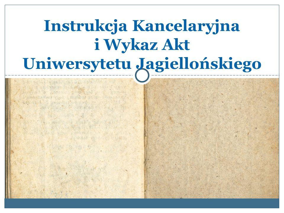 Zarządzenie Rektora UJ Rektor UJ zarządzeniem z dnia 27 sierpnia 2014 r.