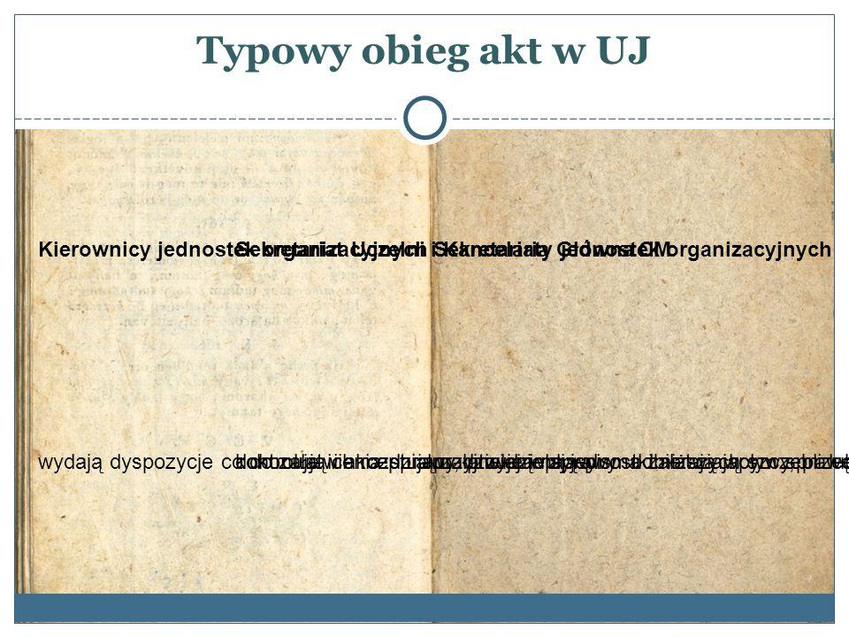 Przekazywanie akt do Archiwum UJ Przed przekazaniem akta o kategorii wyższej niż B10 mają być uporządkowane w następujący sposób: 1.