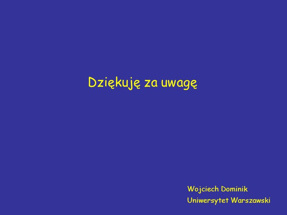 Dziękuję za uwagę Wojciech Dominik Uniwersytet Warszawski