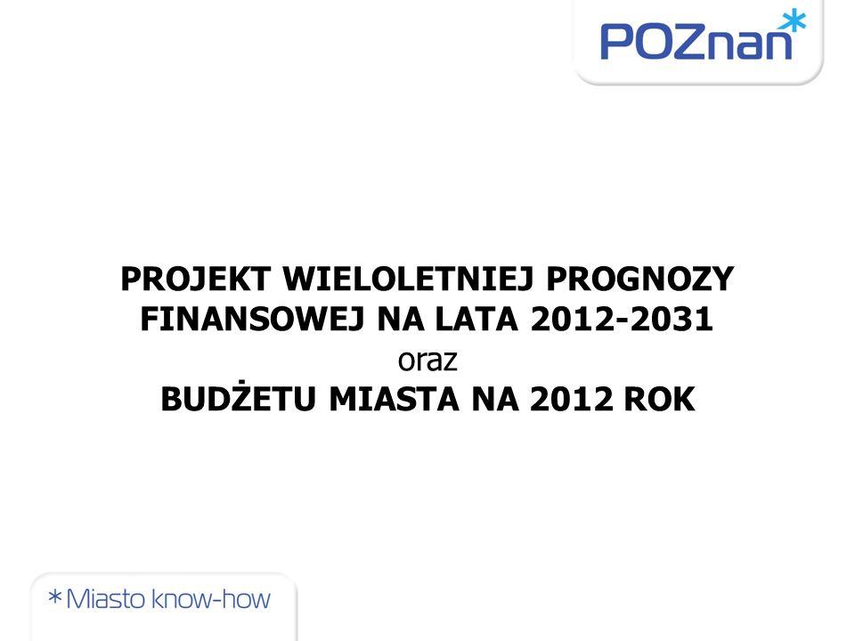PROJEKT WIELOLETNIEJ PROGNOZY FINANSOWEJ NA LATA 2012-2031 oraz BUDŻETU MIASTA NA 2012 ROK