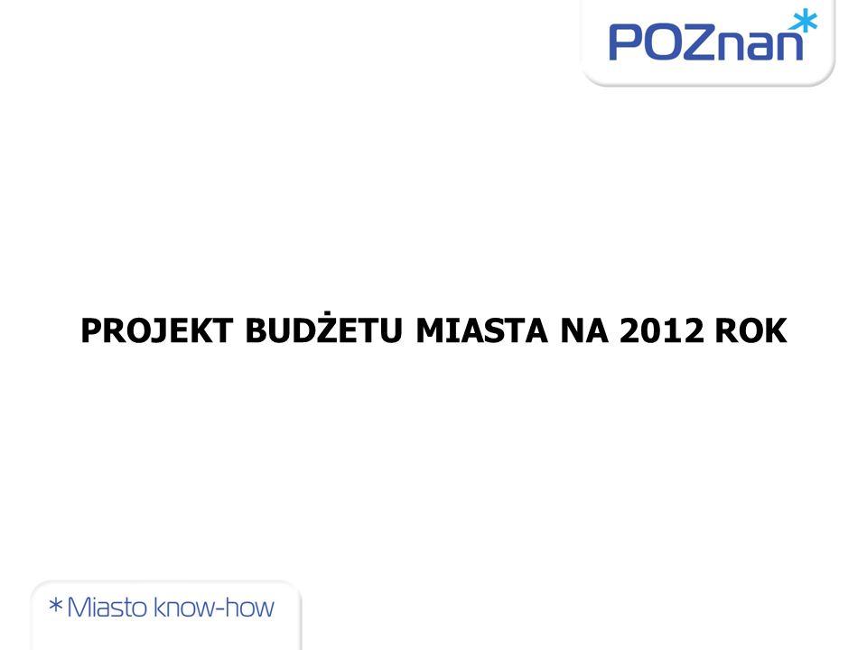 PROJEKT BUDŻETU MIASTA NA 2012 ROK