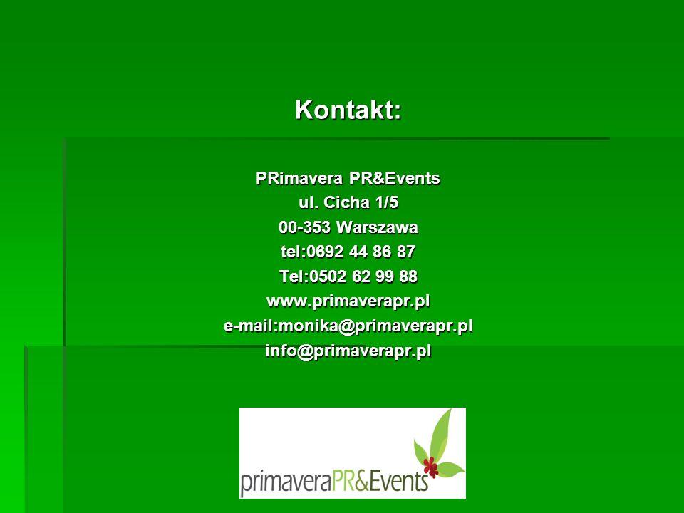Kontakt: PRimavera PR&Events ul.