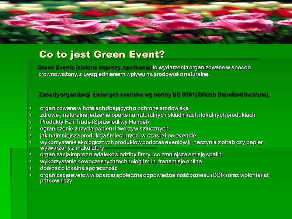"Przykłady Green Eventów Przykłady Green Eventów ""Zielony jest w modzie! ""Zielony jest w modzie!"