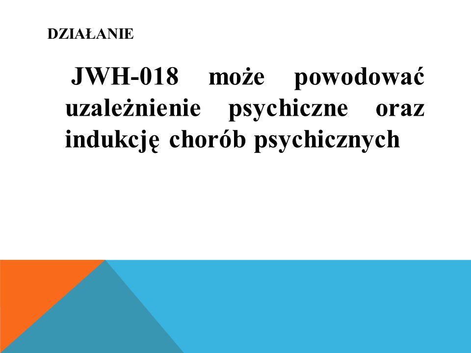 DZIAŁANIE JWH-018 może powodować uzależnienie psychiczne oraz indukcję chorób psychicznych