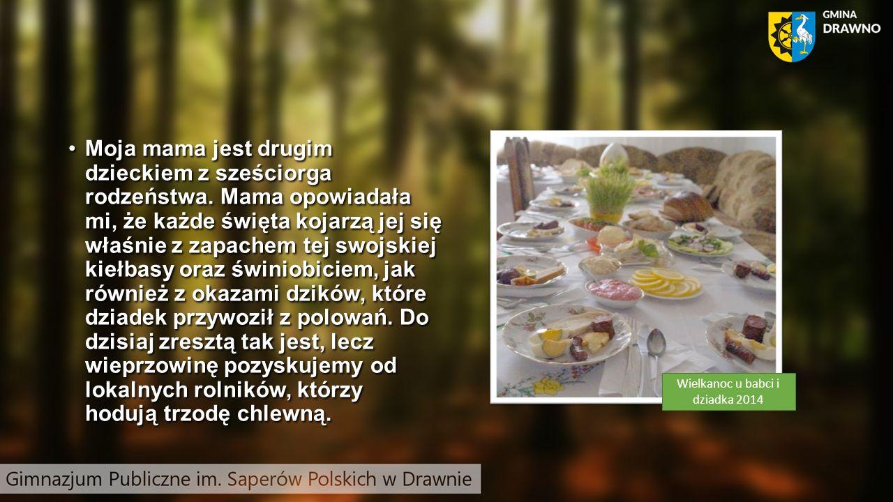 Nie ukrywamy, że dziadkowi w świniobiciu towarzyszył czasami lokalny masarz – pan Mieczysław Maciąg, bez którego prawie żadne świniobicie w Drawnie się nie odbywało.
