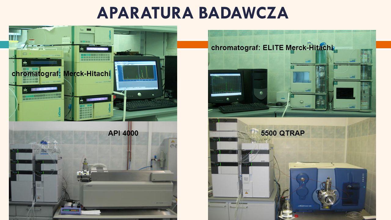 APARATURA BADAWCZA API 40005500 QTRAP chromatograf: Merck-Hitachi chromatograf: ELITE Merck-Hitachi
