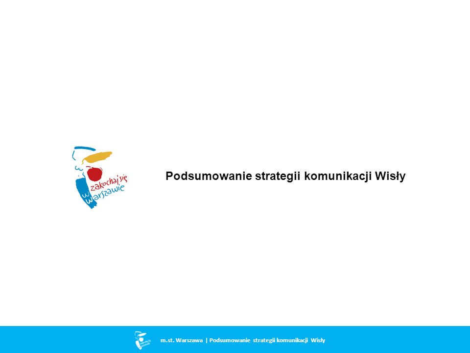 Podsumowanie strategii komunikacji Wisły m.st. Warszawa | Podsumowanie strategii komunikacji Wisły