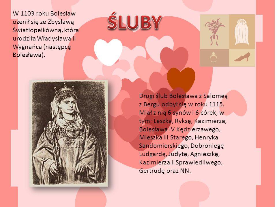 W 1103 roku Bolesław ożenił się ze Zbysławą Światłopełkówną, która urodziła Władysława II Wygnańca (następcę Bolesława).