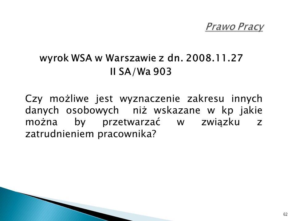 62 Prawo Pracy wyrok WSA w Warszawie z dn.