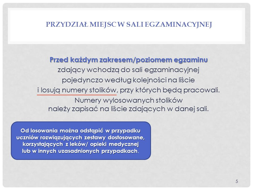 ZASADY PRZEPROWADZANIA EGZAMINU GIMNAZJALNEGO  Na sali egzaminacyjnej obowiązuje zakaz wnoszenia, posiadania i używania urządzeń telekomunikacyjnych.