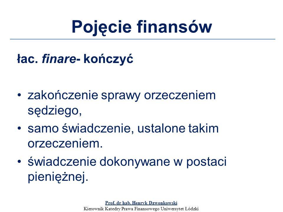 Pojęcie finansów łac.