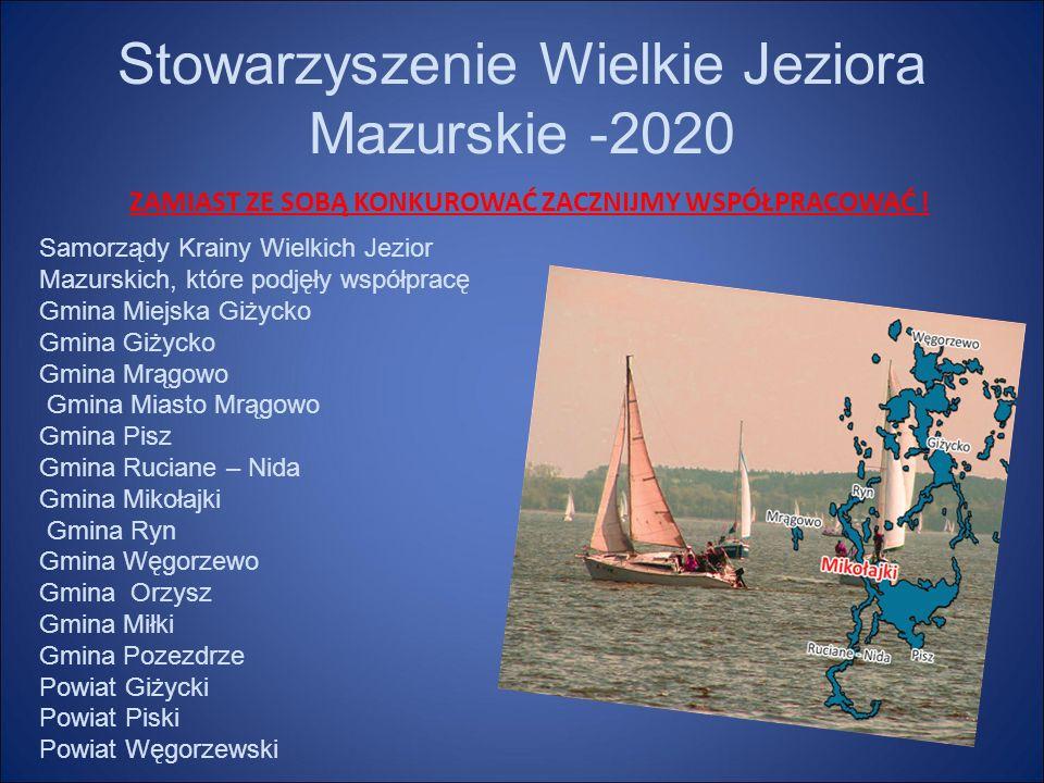 Stowarzyszenie Wielkie Jeziora Mazurskie -2020 ZAMIAST ZE SOBĄ KONKUROWAĆ ZACZNIJMY WSPÓŁPRACOWAĆ .