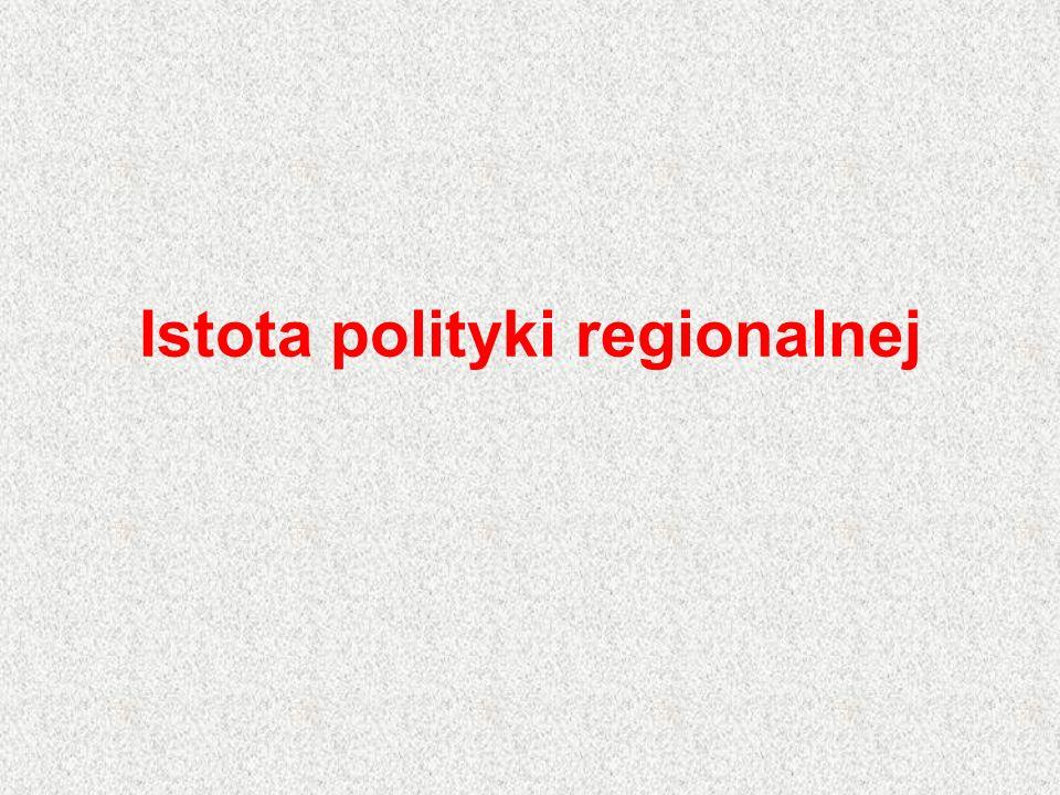Istota polityki regionalnej