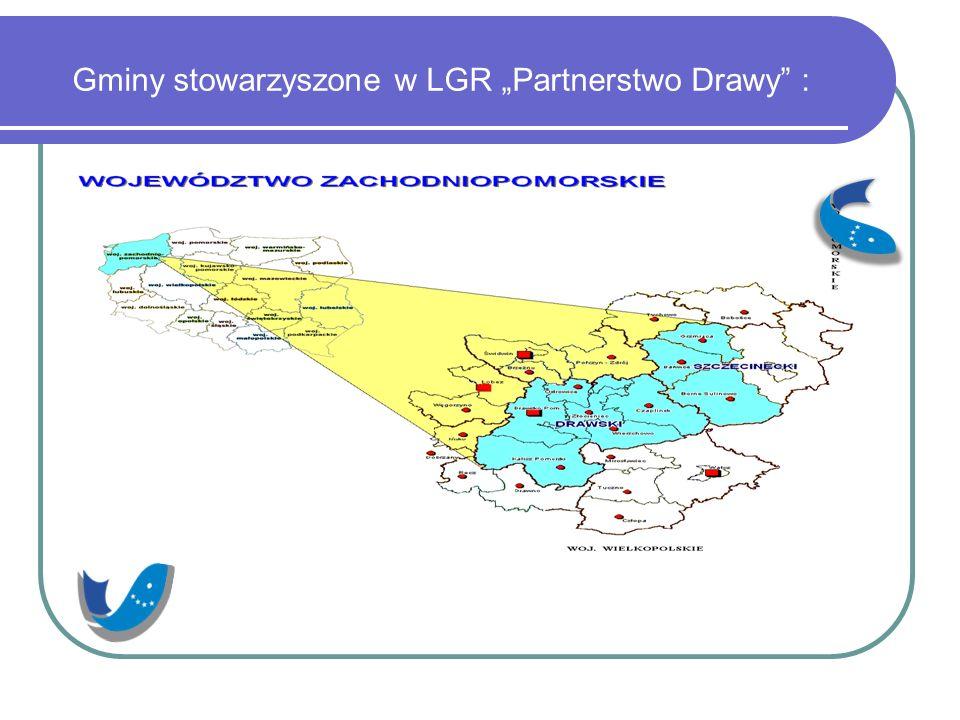 """Gminy stowarzyszone w LGR """"Partnerstwo Drawy :"""