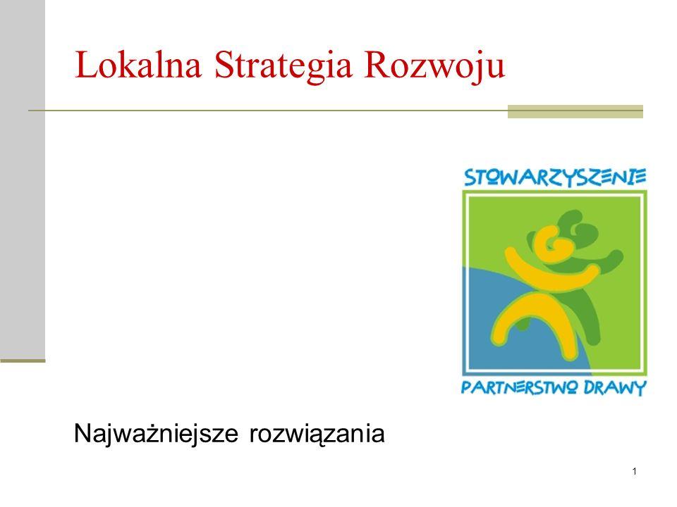 1 Lokalna Strategia Rozwoju Najważniejsze rozwiązania