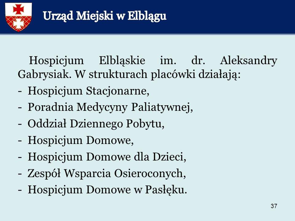 37 Hospicjum Elbląskie im.dr. Aleksandry Gabrysiak.
