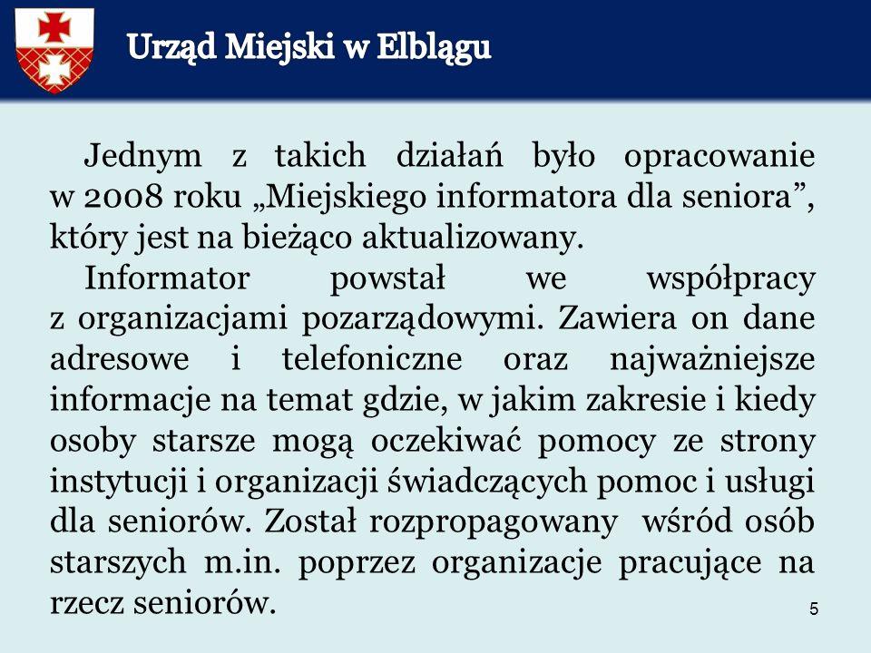 56 Komenda Miejska Policji w Elblągu prowadzi kampanie medialne oraz rozprowadza wśród seniorów ulotki na temat zachowania zasad bezpieczeństwa w środowisku lokalnym.
