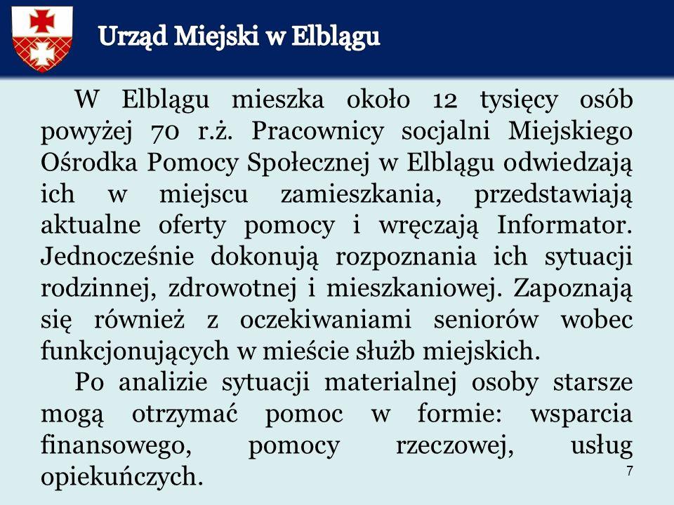 7 W Elblągu mieszka około 12 tysięcy osób powyżej 70 r.ż.