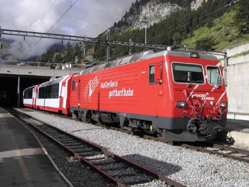 Glacier Express, Schweiz Ekspres Lodowcowy, pomiędzy Zermatt u stóp Matterhornu a St.
