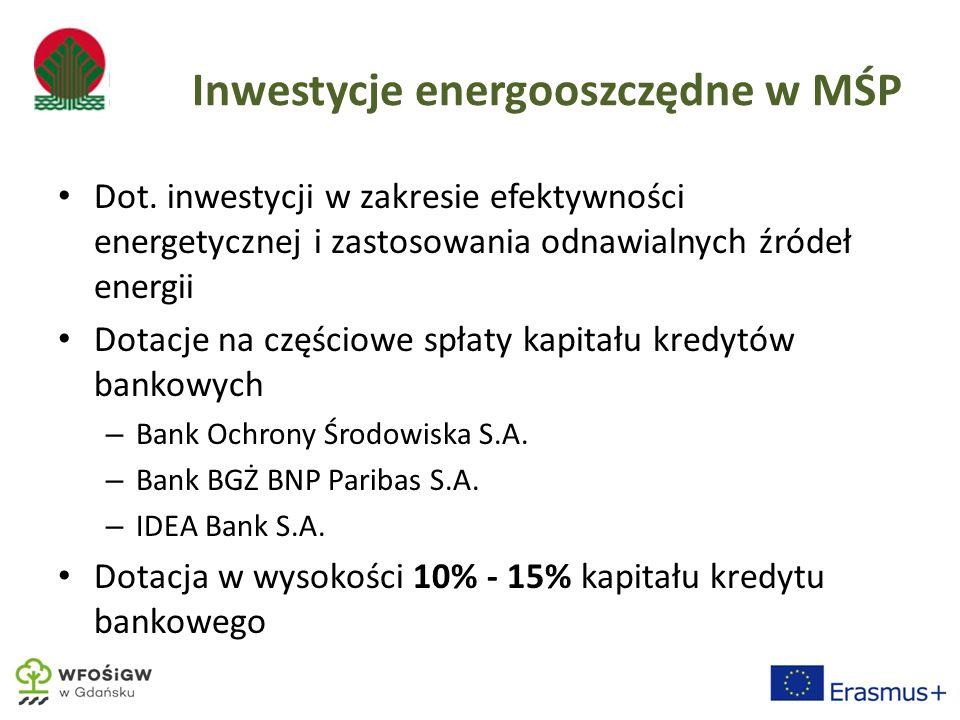 Inwestycje energooszczędne w MŚP Dot.