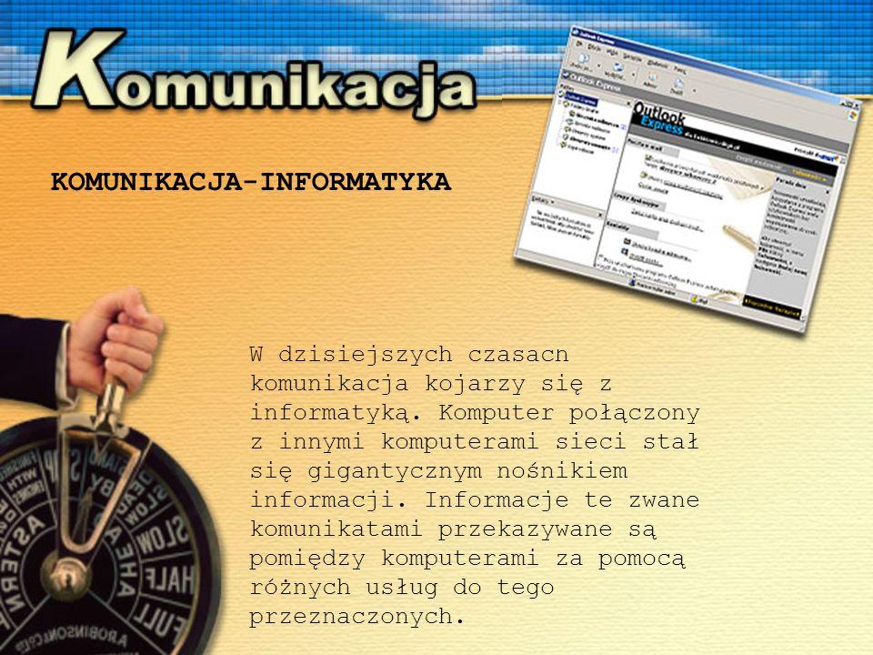 W dzisiejszych czasach komunikacja kojarzy się z informatyką.