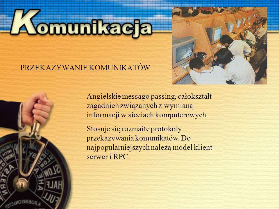 Angielskie messago passing, całokształt zagadnień związanych z wymianą informacji w sieciach komputerowych.