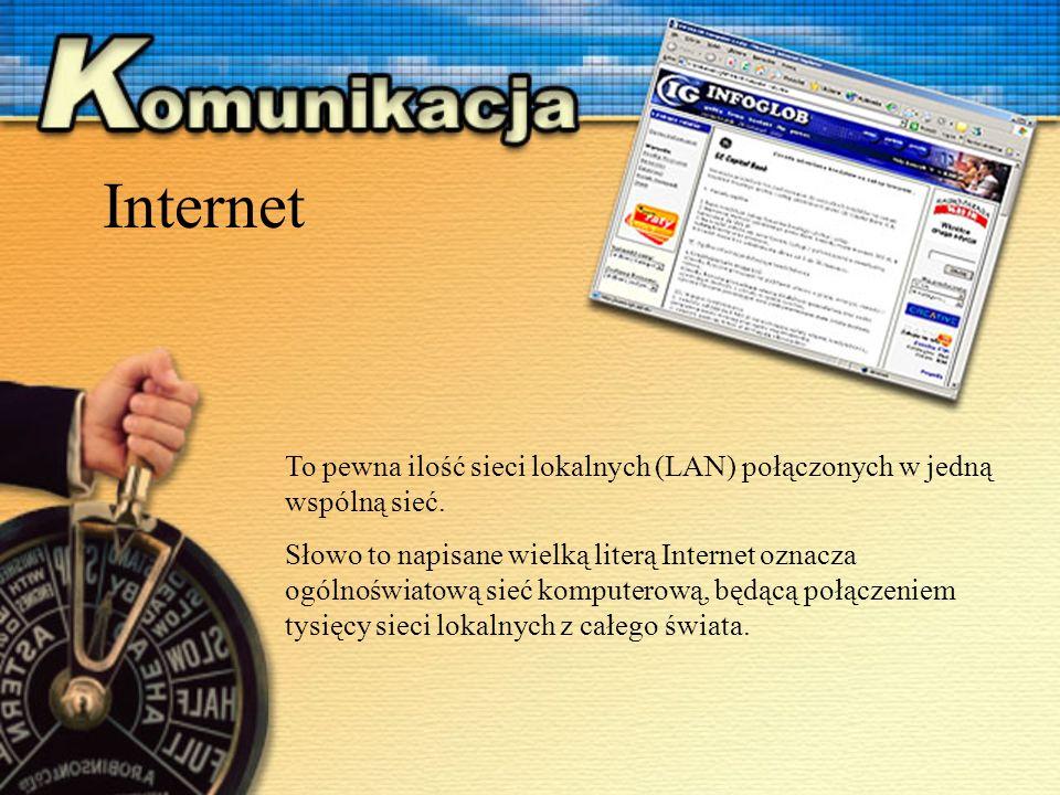 To pewna ilość sieci lokalnych (LAN) połączonych w jedną wspólną sieć.