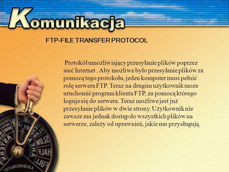 Protokół umożliwiający przesyłanie plików poprzez sieć Internet.
